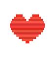 pixel art heart symbol of love vector image