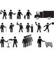 Pictogram people activities vector image vector image