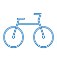 blue bicycle symbol vector image