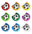 Soccer football stickers labels set vector image vector image