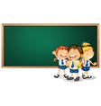 Children and board vector image vector image