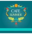 Template logo Sammer cafe vector image