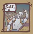 medieval warrior scene vector image