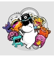 monsters and party vector image