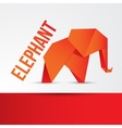 Paper origami Elephant Can be used for corporate vector image