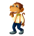 Man-like monkey vector image vector image