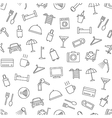 Hotel services pattern black icons vector image vector image