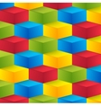 Abstract geometric shape from cubes vector image