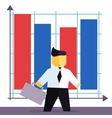 businessman in flat style vector image