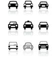 Car symbol set vector image