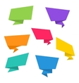 Colorful Origami Empty Paper Banners vector image