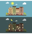 Day and Night Cityscape landscape vector image