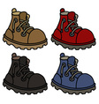 Funny color leather boots vector image
