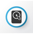 hard disk icon symbol premium quality isolated vector image