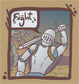 medieval warrior scene vector image