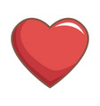 red heart love vector image