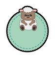 sheep kawaii cartoon vector image