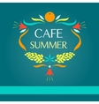 Template logo Sammer cafe vector image