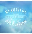 Beautiful recreation vector image