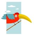 Toucan Bird with Big Beak Sitting vector image