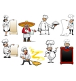 Variety cartoon chefs and bakers vector image vector image
