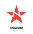 logo template - sliced star with letter N inside vector image