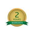 Two years warranty label vector image