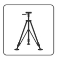 Tripod icon Sign modern equipment vector image