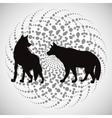 Animal design wolf icon Silhouette vector image