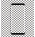 black phone with transparent screen on vector image