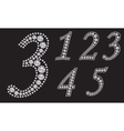 Diamond number set from 1 to 5 vector image