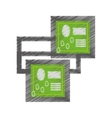 drawing circuit board technical system pc vector image