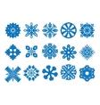 snowflake icon set - vector image