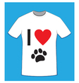 t shirt love dogs vector image