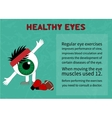 The benefits of gymnastics for the healthy eyes vector image