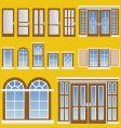 window and door vector image