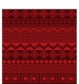 Knitted background in Fair Isle style seamless vector image vector image