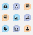 set of 9 editable analytics icons includes vector image
