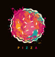 banner with abstract image of pizza vector image