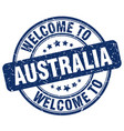 welcome to australia blue round vintage stamp vector image