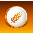 Wheat ear technical logo template Construction or vector image