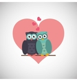Love with owl design vector image