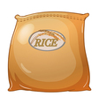 A sack of rice vector image