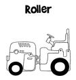 art of roller vector image