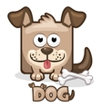 cute cartoon square dog vector image