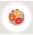 Framed Color Geosphere logotype icon vector image
