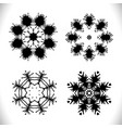 mandala black set vector image