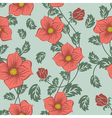 Seamless floral ornate pattern vector image