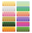 Set of Colorful Pills Blisters vector image