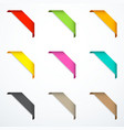 set of corner ribbons vector image